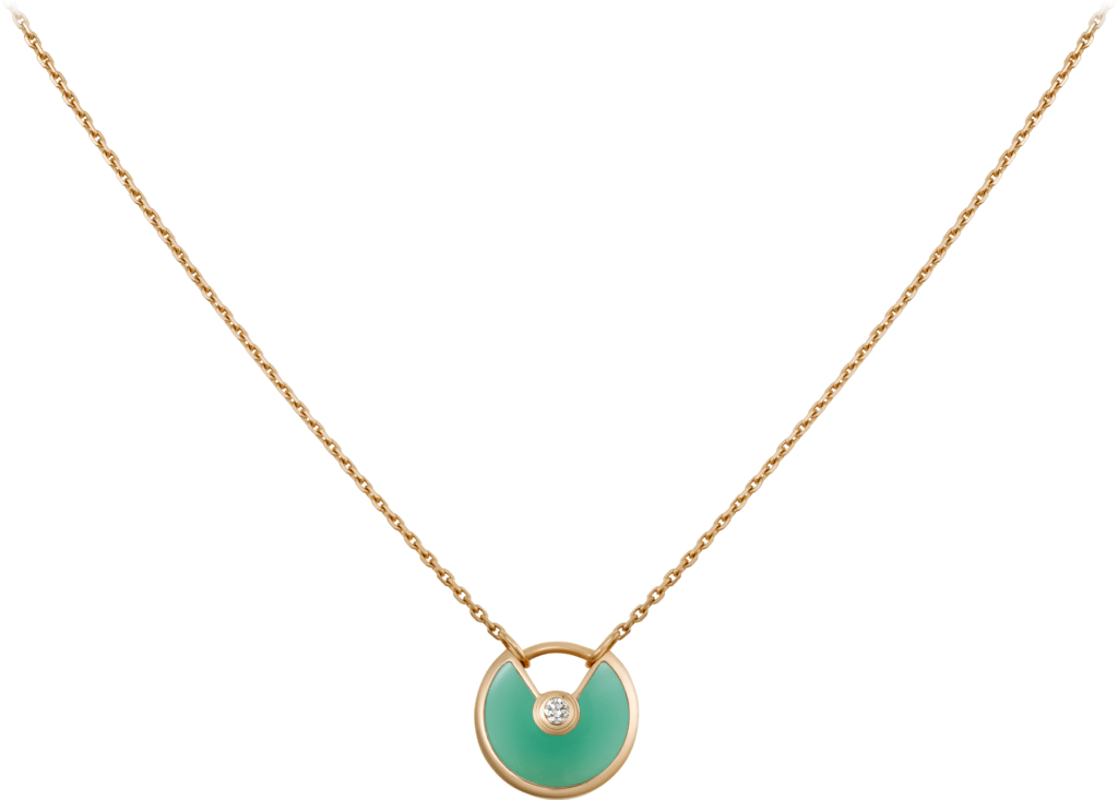 Amulette de Cartier necklace, XS modelYellow gold, chrysoprase, diamond