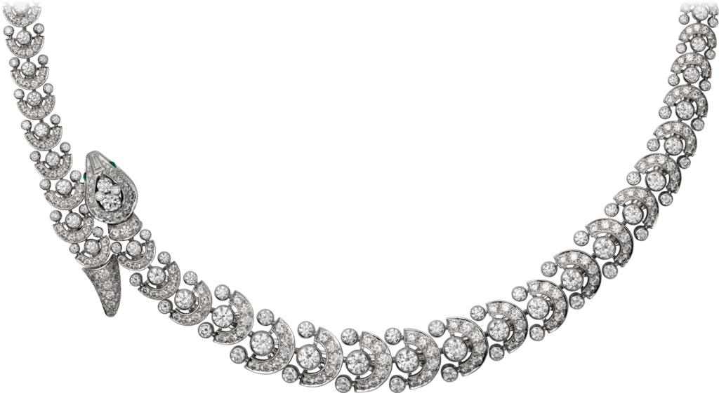 Faune et Flore de Cartier necklacePlatinum, emeralds, diamonds