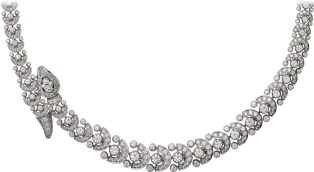Faune et Flore de Cartier necklace Platinum, emeralds, diamonds