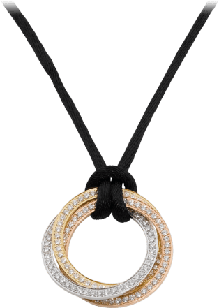 Trinity necklace White gold, yellow gold, rose gold, diamonds