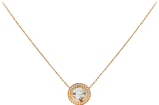 Cartier d'Amour necklace Pink gold, diamonds