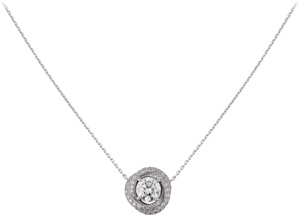 Trinity Ruban necklaceWhite gold, diamonds