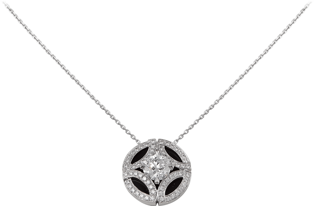 Galanterie de Cartier necklaceWhite gold, black lacquer, diamonds