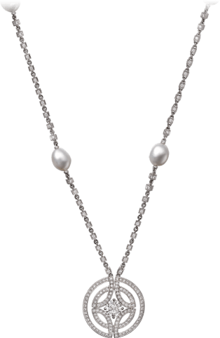 Galanterie de Cartier necklace White gold, cultured pearls, diamonds