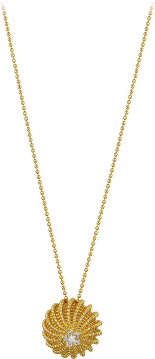 Cactus de Cartier Necklace Yellow gold, diamonds