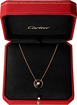 Amulette de Cartier necklace, XS model Pink gold, onyx, diamonds