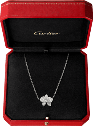 Caresse d'Orchidées par Cartier necklace White gold, diamonds