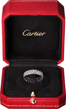 Broderie de Cartier wedding band White gold, diamonds
