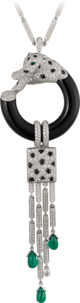 Panthère de Cartier necklaceWhite gold, emeralds, onyx, diamonds