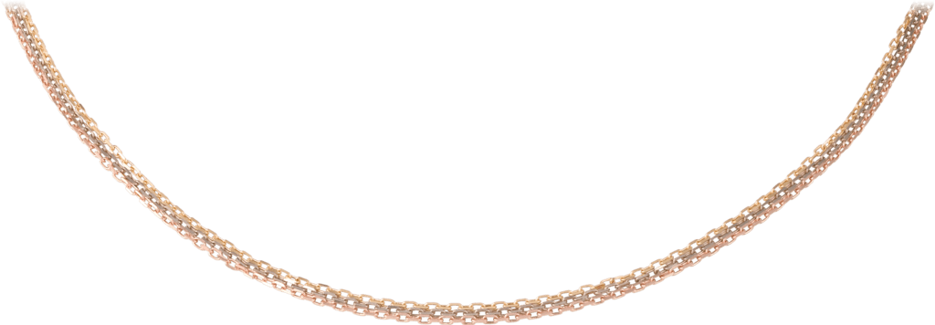 Chain necklaceWhite gold, yellow gold, pink gold