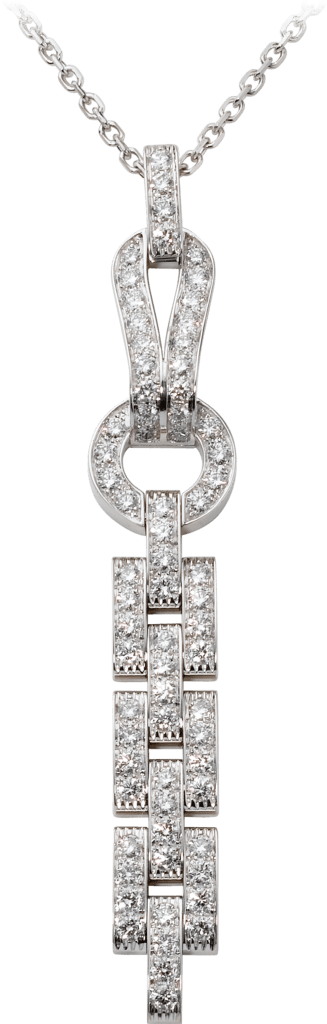 Agrafe necklaceWhite gold, diamonds