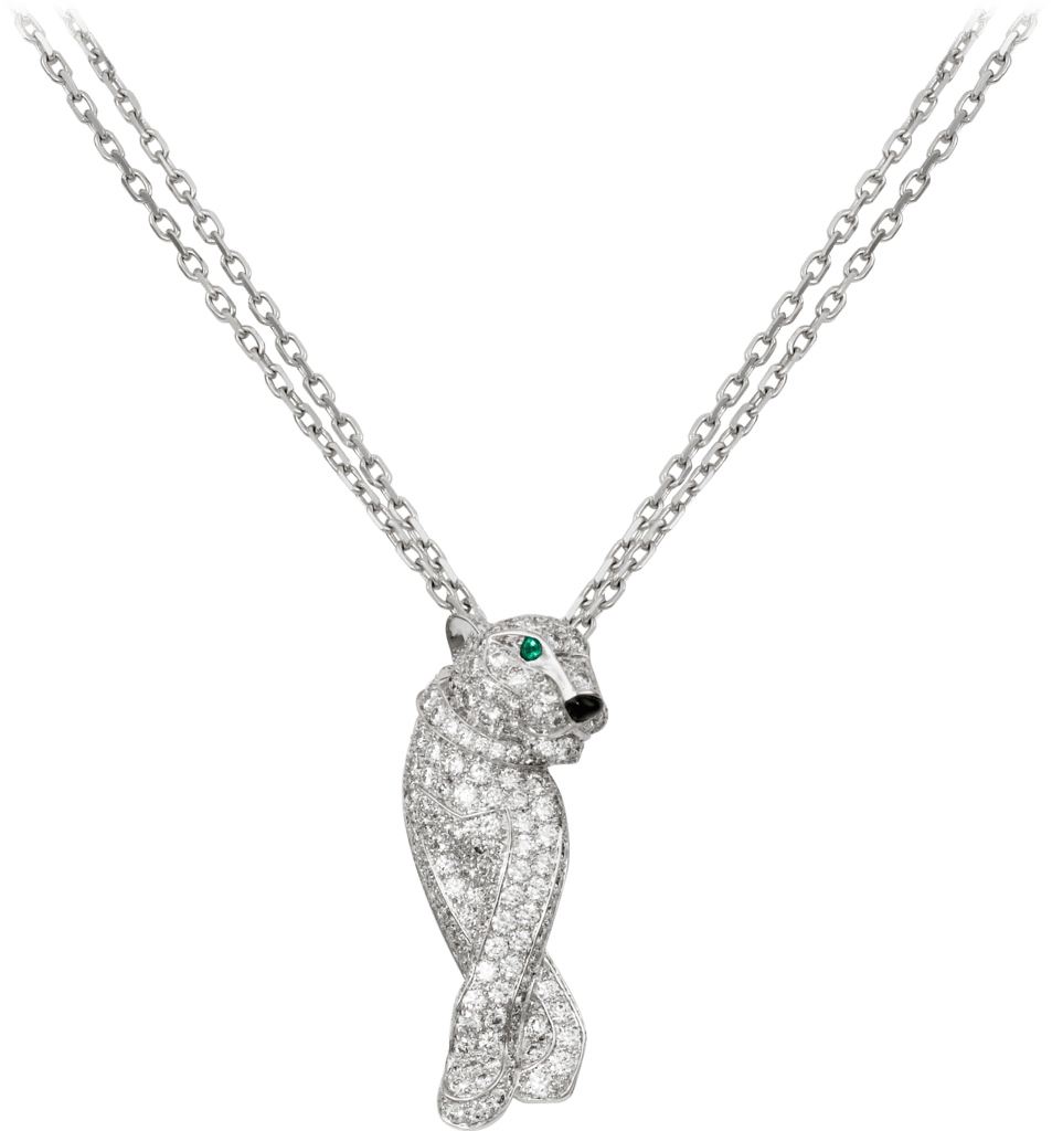 Panthère de Cartier necklaceWhite gold, diamonds, emeralds, onyx