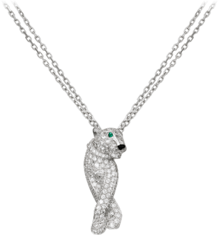 Panthère de Cartier necklace White gold, diamonds, emeralds, onyx