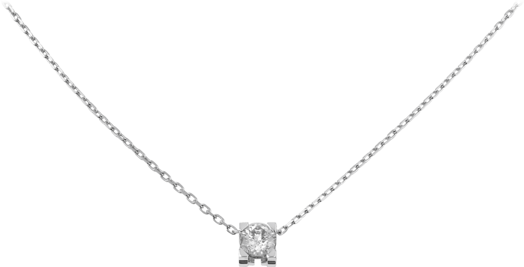 C de Cartier necklaceWhite gold, diamond