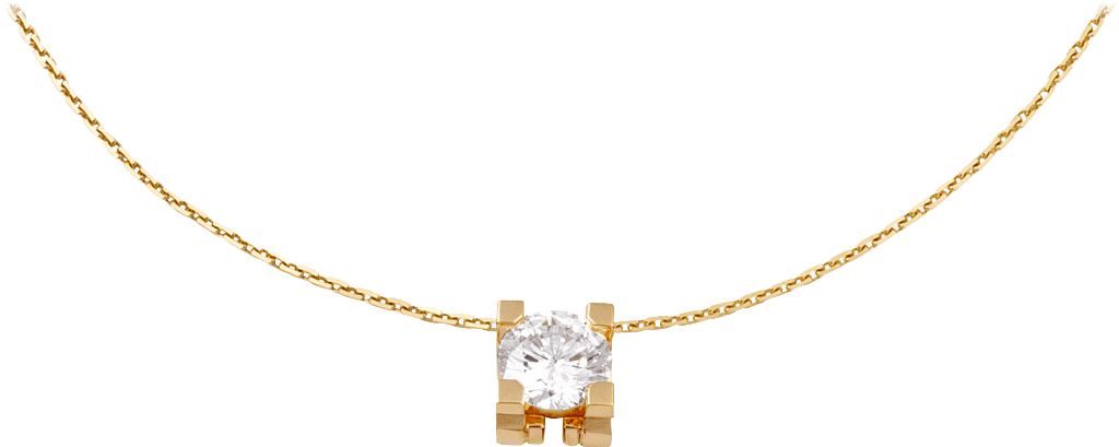 C de Cartier necklaceYellow gold, diamond