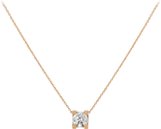 C de Cartier necklace Pink gold, diamond