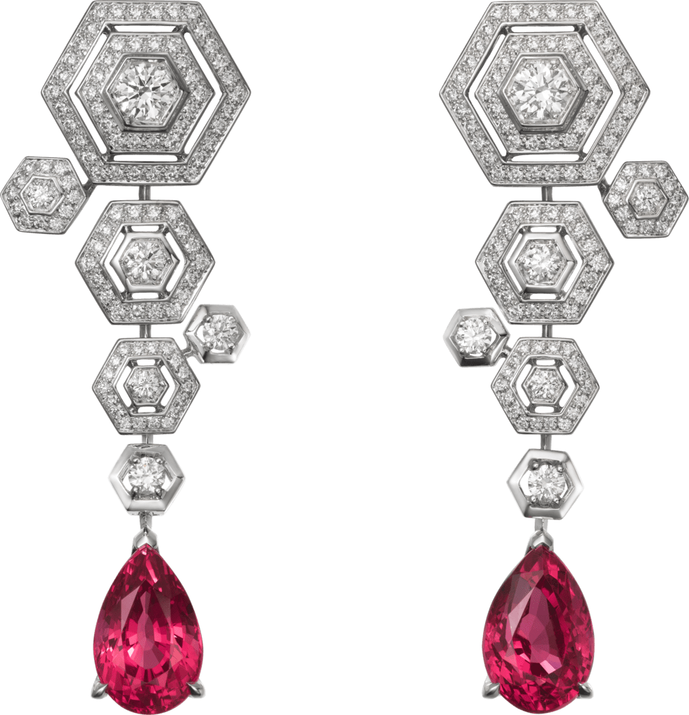 High Jewelry earringsWhite gold, spinels, diamonds