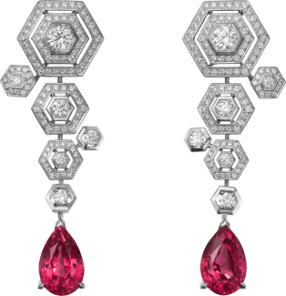 High Jewelry earrings White gold, spinels, diamonds