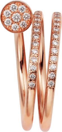 Juste un Clou ring Pink gold, diamonds
