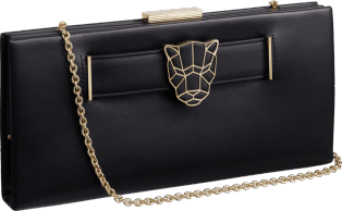 Panthère de Cartier clutch bag Black calfskin, gold finish