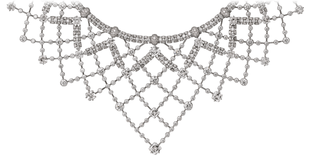 High Jewelry necklaceWhite gold, diamonds