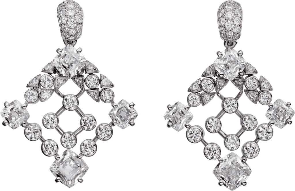 High Jewelry earringsWhite gold, diamonds