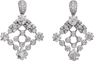 High Jewelry earrings White gold, diamonds