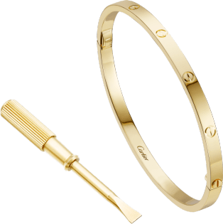 Love bracelet, SM Yellow gold