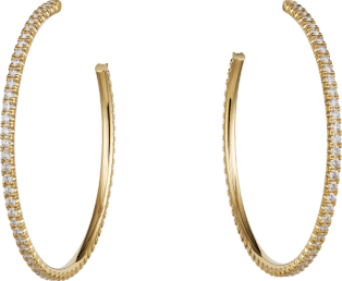 Etincelle de Cartier earrings Yellow gold, diamonds