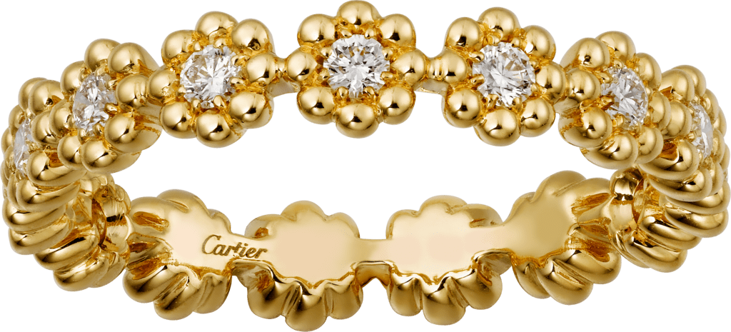 Cactus de Cartier wedding bandYellow gold, diamonds