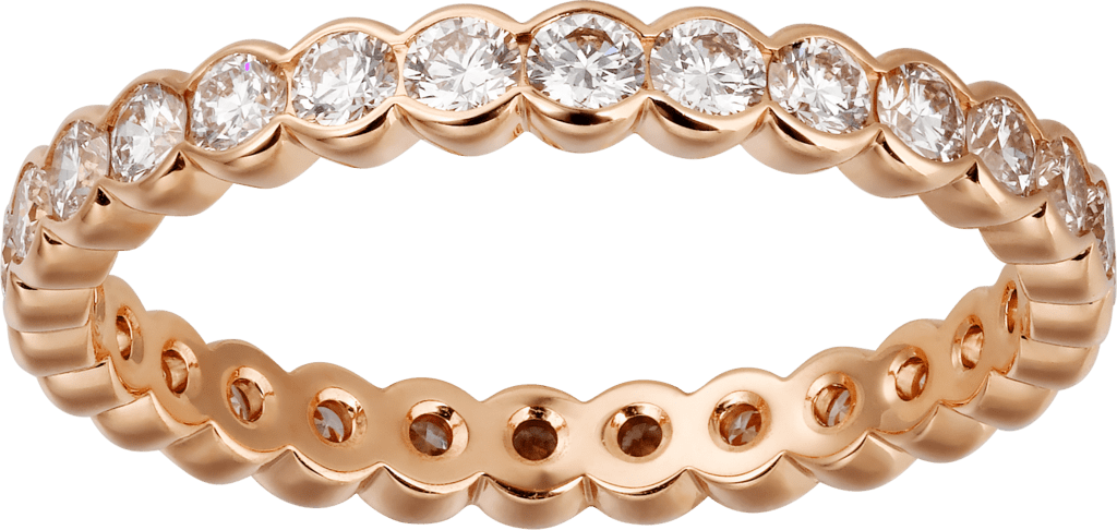 Broderie de Cartier wedding bandPink gold, diamonds