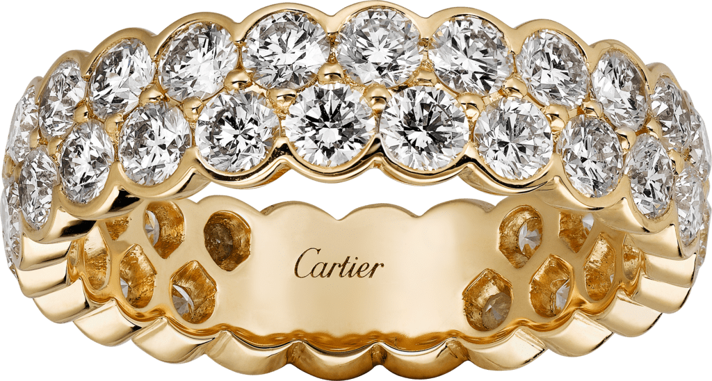 Broderie de Cartier wedding bandYellow gold, diamonds
