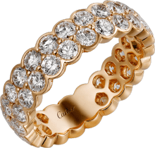 Broderie de Cartier wedding band Pink gold, diamonds
