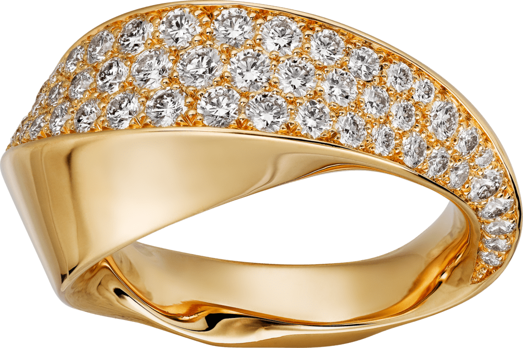 Coup d'Éclat de Cartier ringYellow gold, diamonds