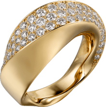 Coup d'Éclat de Cartier ring Yellow gold, diamonds