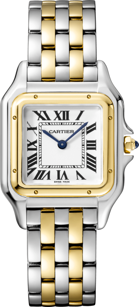 Panthère de Cartier watchMedium model, yellow gold and steel