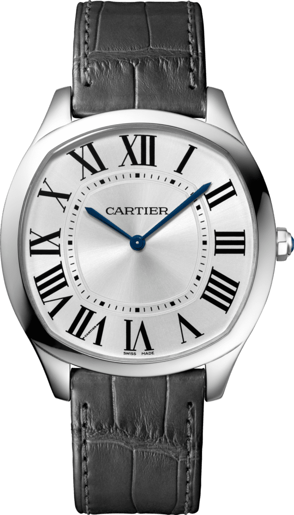 Drive de Cartier Extra-Flat watchWhite gold, leather