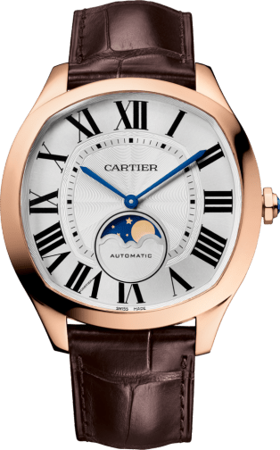 Drive de Cartier Moon Phases watch Pink gold, leather