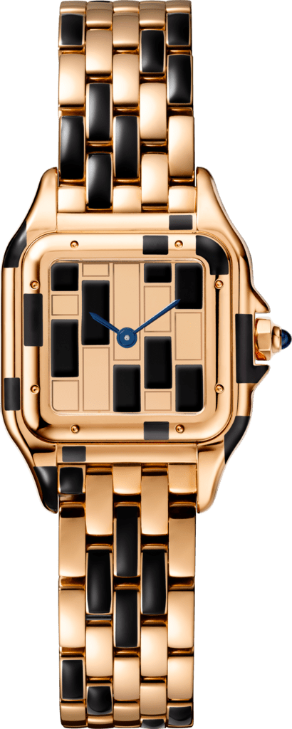 Panthère de Cartier watchSmall model, pink gold and black lacquer