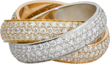 Trinity ring, LM White gold, yellow gold, pink gold, diamonds