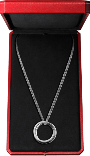 Trinity necklace White gold, ceramic, diamonds