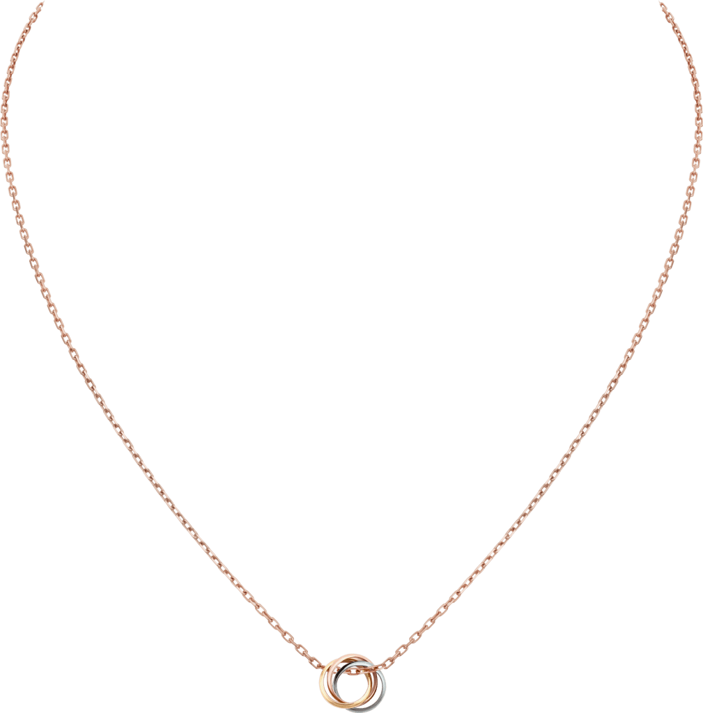 Trinity necklaceWhite gold, yellow gold, pink gold