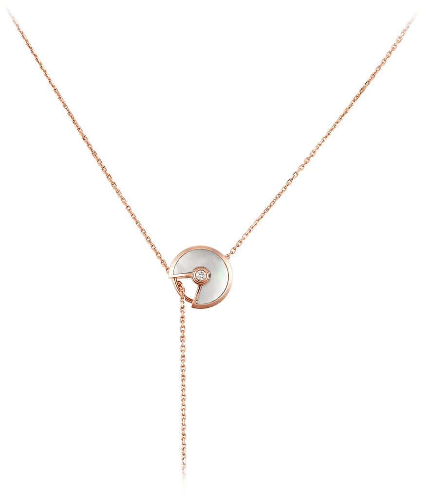 Amulette de Cartier necklacePink gold, malachite, white mother-of-pearl, diamonds