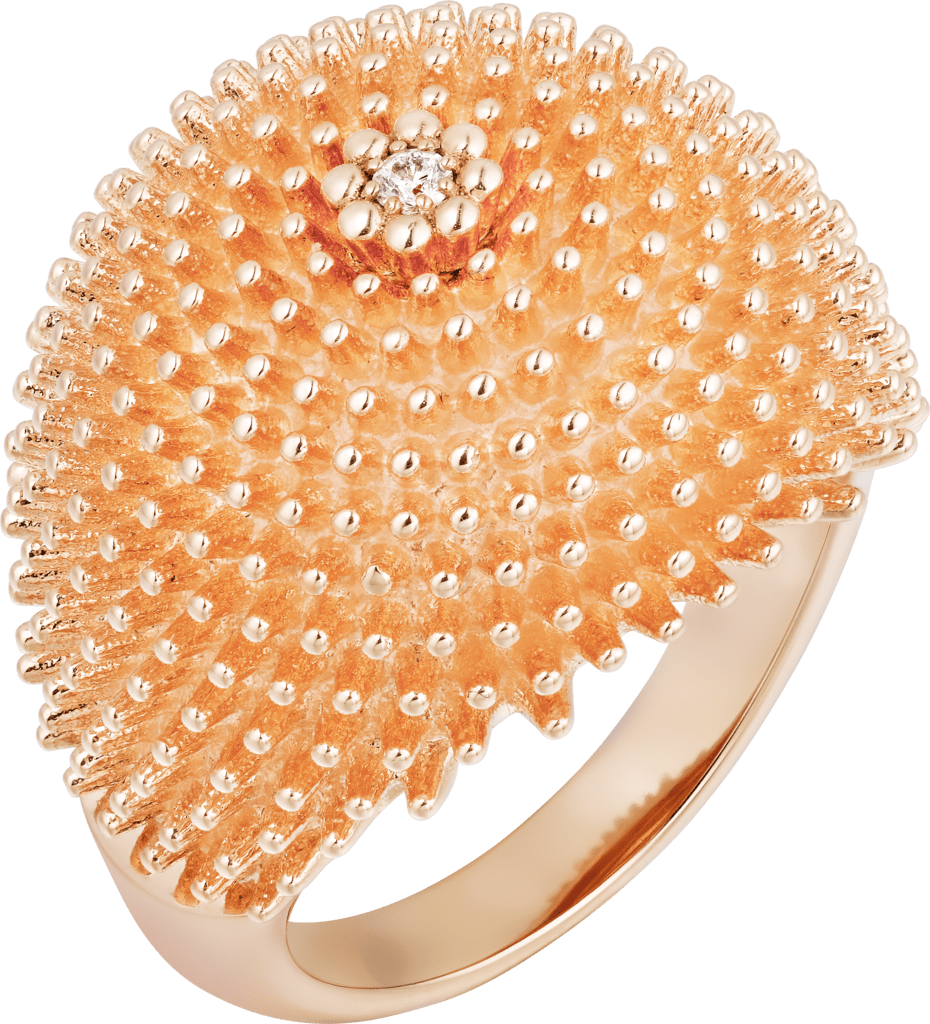 Cactus de Cartier ringPink gold, diamond