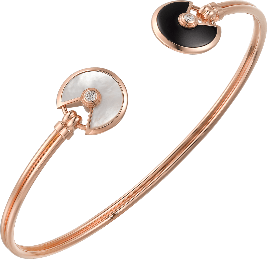Amulette de Cartier bracelet, XS modelPink gold, onyx, white mother-of-pearl, diamond