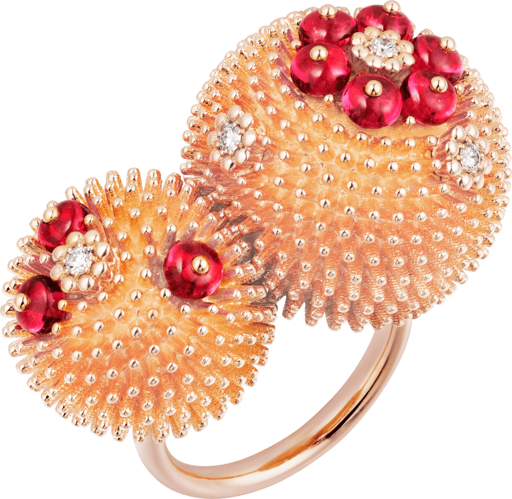 Cactus de Cartier ringPink gold, spinels, diamonds