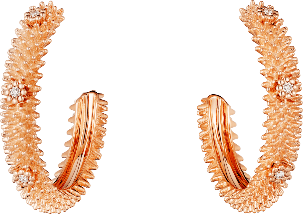 Cactus de Cartier earringsPink gold, diamonds