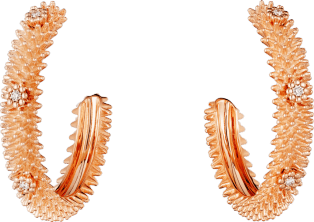 Cactus de Cartier earrings Pink gold, diamonds