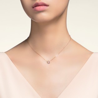 Trinity necklace White gold, yellow gold, pink gold, diamond