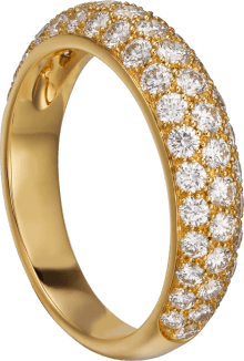 Étincelle de Cartier ring, small model Yellow gold, diamonds